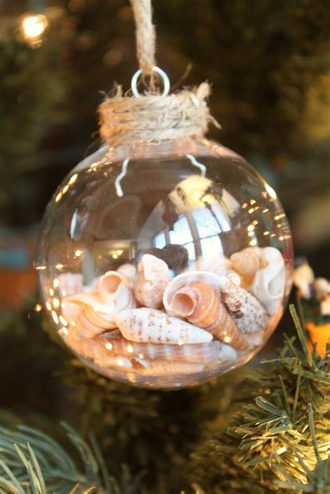 make christmas ornaments how to make your own seashell christmas ornament