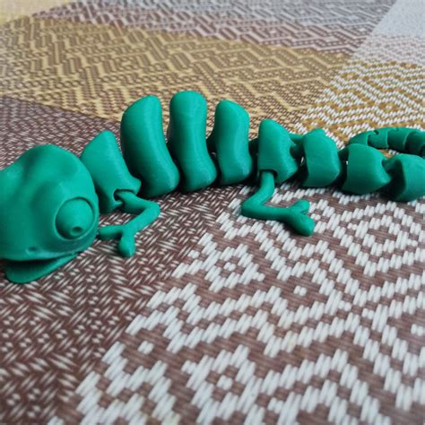 3d Print Of Articulated Chameleon By Elektricit