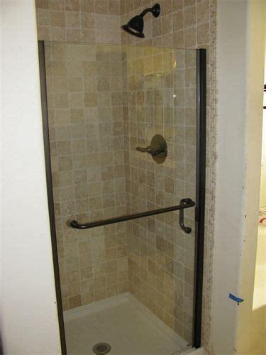 tiled stand  shower shower remodel bathroom makeover