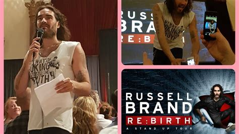 russell brand rebirth tour russell brand live rebirth tour 2017 youtube