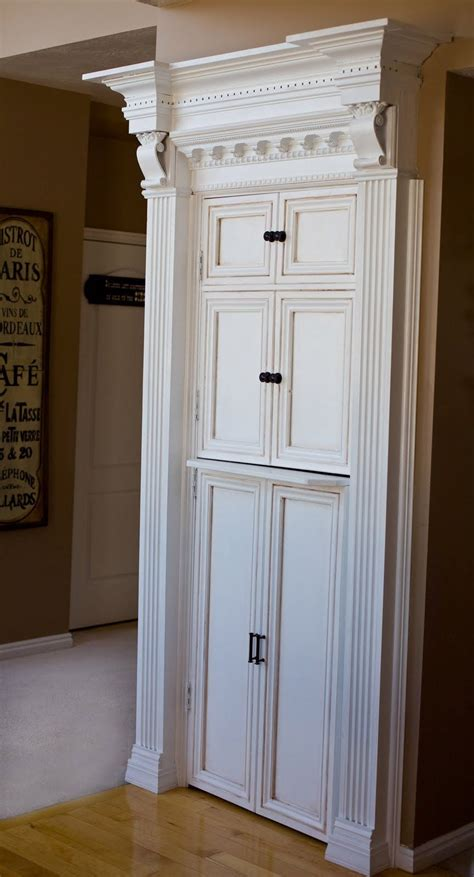 Pantry Closet Doors by Faux Cabinetry Pantry Door Makeover Like The Idea For The