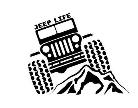 jeep life decal jeep life car decal jeep life vinyl decal