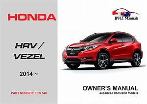 Honda  U2013 Hr  Vezel Car Owners Manual