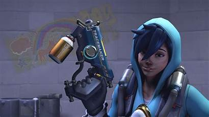 Graffiti Tracer Overwatch Background Wallpapers