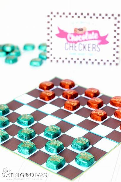 Checkers Chocolate Board Games Dating Divas Anticipation