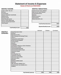 Sample Of Income Statements Income And Expense Statement Template Excelxo Com