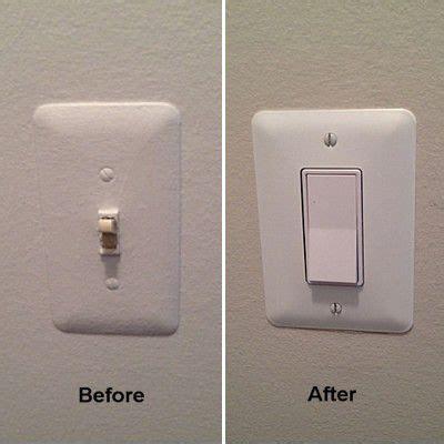replacing  toggle light switch   rocker switch