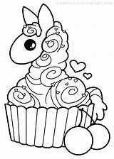Llama Coloring Alpaca Kawaii Cupcake Yampuff Pages Drawing Lineart Colouring Drawings Line Clipart Printable Para Llamas Colorir Cupcakes Sheets Deviantart sketch template