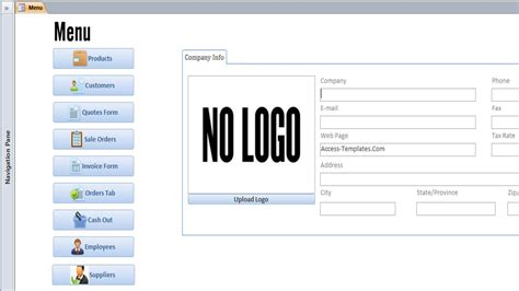 access invoice template  invoice