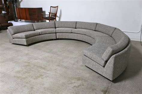 Circle Loveseat by Circular Sectional Sofa By Milo Baughman At 1stdibs