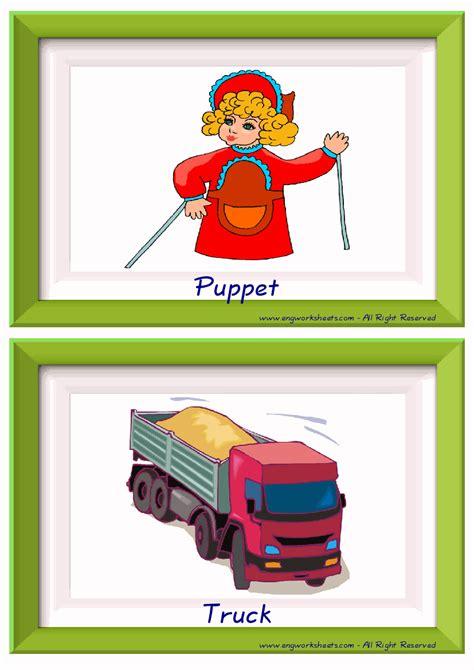 toys esl printable english flash cards worksheets