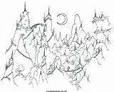 Coloring Paisajes Colorear Mountain Paisaje Adult Adults Colorare Printable Village Pintar Mountains Montagna Dibujos Hermosos Notte Disegni Bluebison Landscape Espectacular sketch template