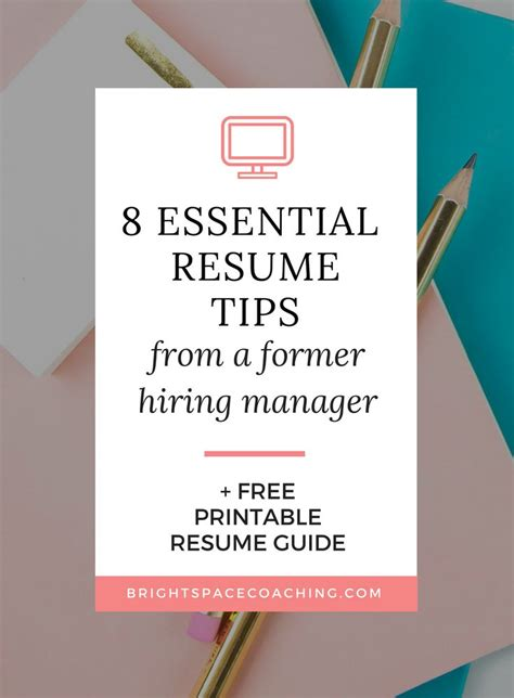 The key is to emphasize your accomplishments and provide proof of your potential value. 8 Resume Tips from a Former Hiring Manager (With images)   Resume tips, Hiring manager, Resume guide