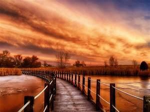 Autumn, River, Sky, Wooden, Bridge, Ultra, Hd, 3840x2160, Wallpaper, Wallpapers13, Com