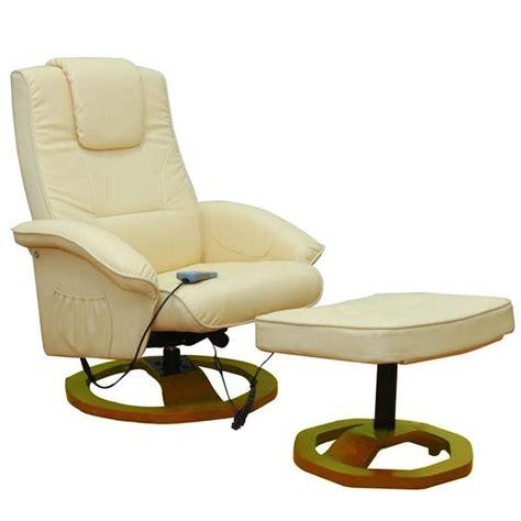 poltrona da massaggio poltrona relax massaggio reclinabile crema vidaxl it