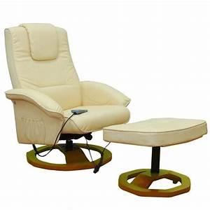 Relaxsessel Mit Hocker : massagesessel relaxsessel mit hocker creme wei g nstig kaufen ~ Indierocktalk.com Haus und Dekorationen