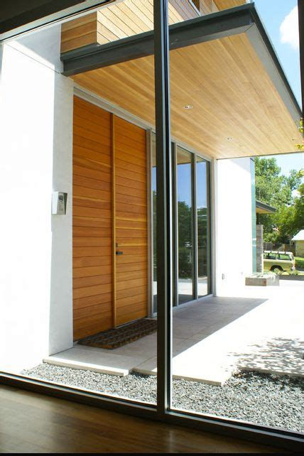 timber entry canopy modern exterior modern entry modern front door