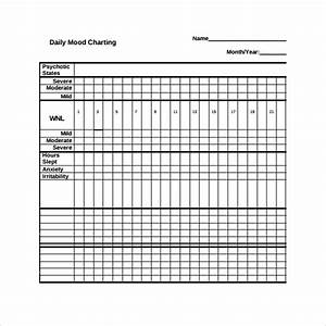 Medication Calendar Template 8 Sample Mood Chart Forms To Download Sample Templates