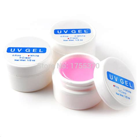 aliexpress buy freeshipping 1pcs x pink white clear transparent 3 color options uv gel