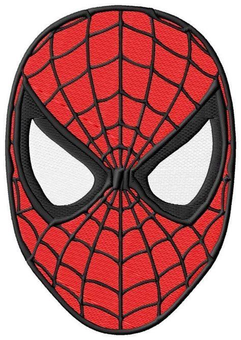 marvel spiderman face mask edible cake topper image