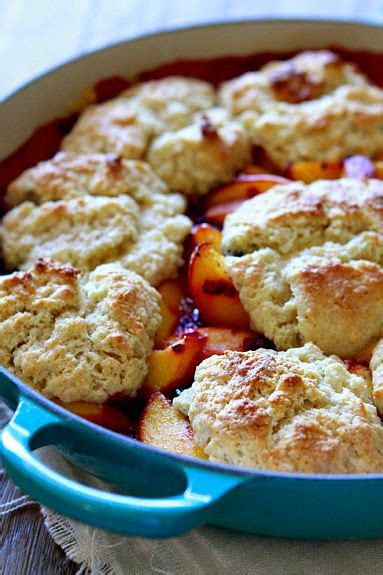 Peach Cobbler with Biscuits