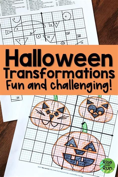 transformations halloween activity  geometry