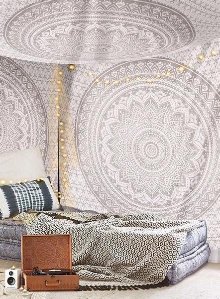 cute gray ombre mandala tapestry wall hanging cheap hippie tapestries