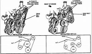 How To Install A Serpentine Belt On A 1993 Ford