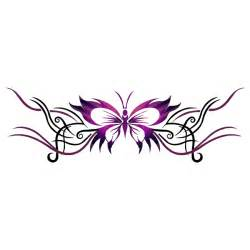 Temporary Tribal Butterfly Tattoo
