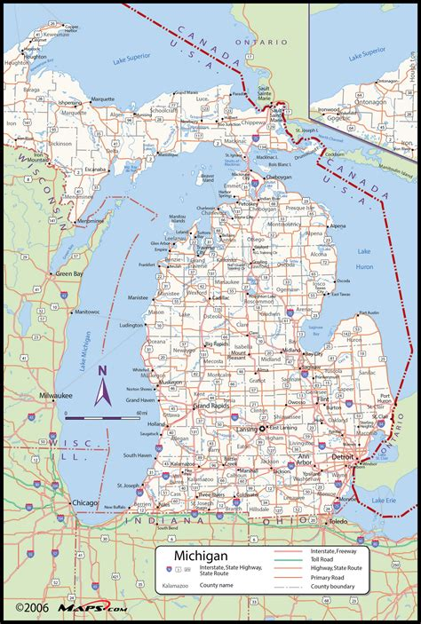 physical maps  michigan picturetomorrow