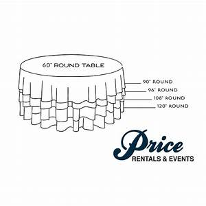 How To Choose The Right Linen Size For A Round Table  U2013 Price Rentals  U0026 Events