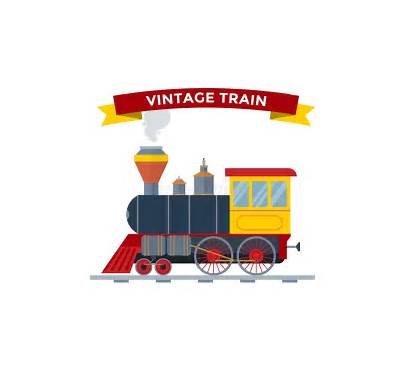 Vector Train Transportation Retro Illustration Silhouette Gravy