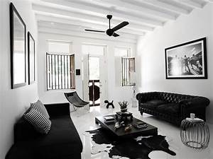 black and white interior ideas for shophouse ideas for With deco salon design blanc