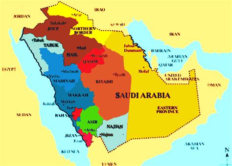 saudi arabia map - Map Pictures