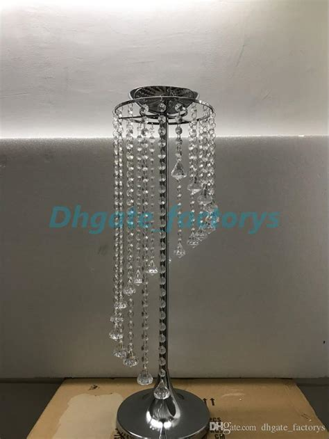 silver metal crystal table centerpiecetable decoration