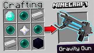 CRAFTING A GRAVITY GUN IN MINECRAFT!! - YouTube