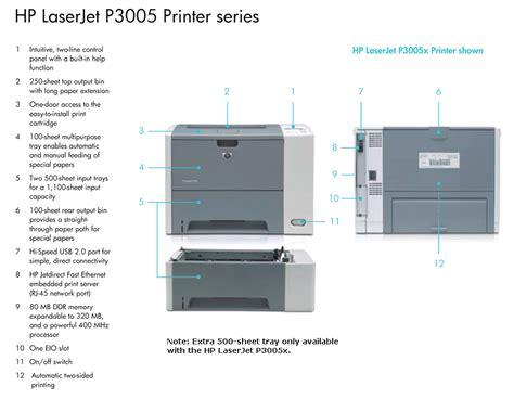 printer hp laserjet p2055d hp p3005d laserjet printer office products