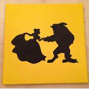 Belle And Rose Silhouette Disney