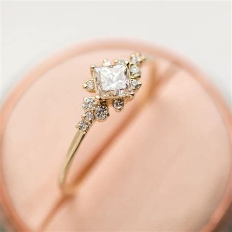 aliexpress com buy shayao cut zircon simple engagement ring vintage gold silver color promise