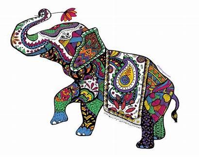Elephant India Clipart Indian Zentangle Transparent Clip