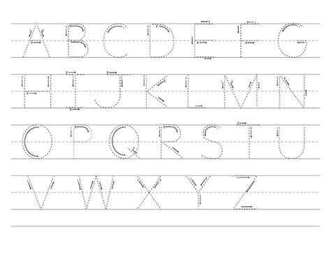 Alphabet Letter Tracing Templates by Free Printable Letter Tracing Worksheets For Kindergarten