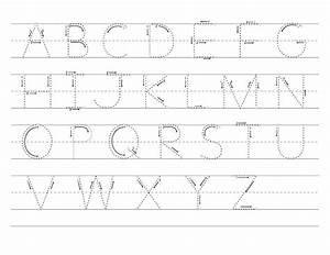 free printable letter tracing worksheets for kindergarten With letter tracing paper