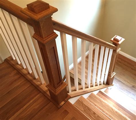 Wooden Stair Banister by Plowed Handrail Stairsupplies