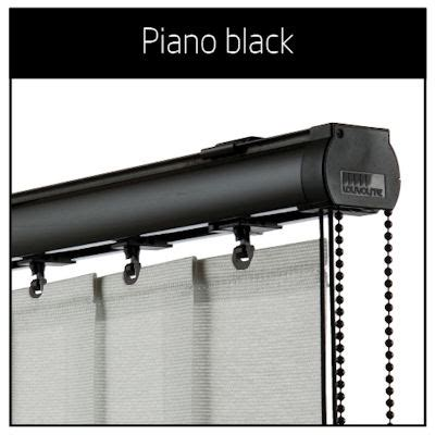 vogue piano black vertical blinds headrails