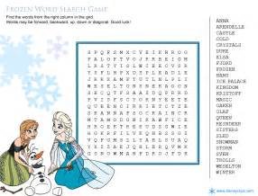 Printable Disney Word Search Games Disney's World of Wonders