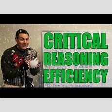 Gmat Tuesday Critical Reasoning Strategies  Efficiency Youtube