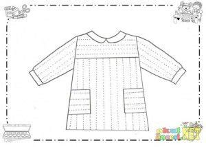 clothes trace worksheet  kids  images