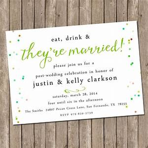our favorite post wedding brunch invitations With wedding invitation wording lunch reception