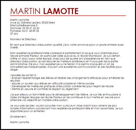 exemple lettre de motivation directeur livecareer