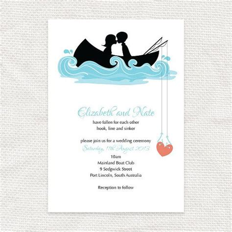 hooked on you invitation printable file fishing